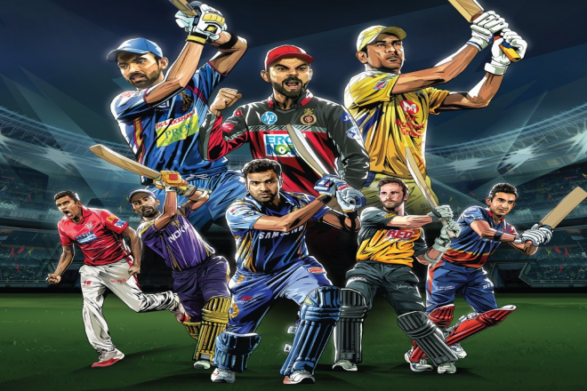 IPL all team Captains Actions Cricket poster, Chennai