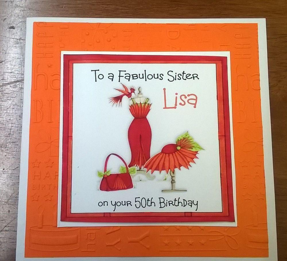 Birthdays Handmade Personalised Birthday Card