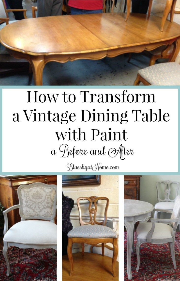 How to Transform a Vintage Dining Table with Paint | Thrift store ...