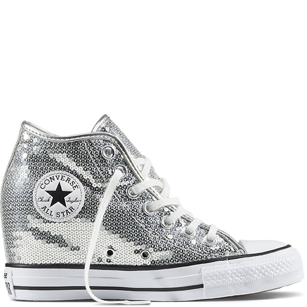 d06eb93085f064 Chuck Taylor All Star Lux Sequin Pure Silver White Black pure silver white  black