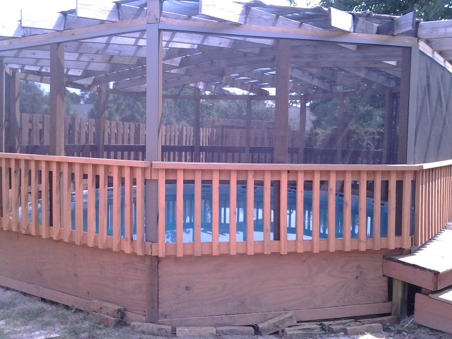 Above Ground Pool Gazebo Pool Gazebo Backyard Pool Pool Landscaping