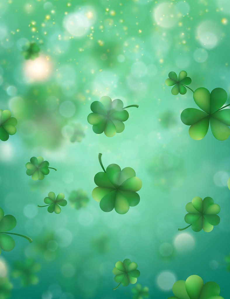 Bokeh Clover Spring Background Photography Backdrop in