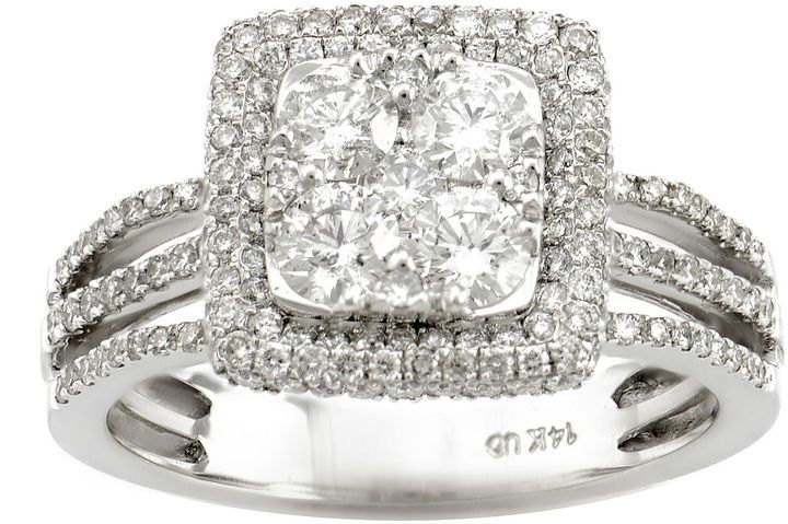 Fine Jewelry LIMITED QUANTITIES 1 1/2 CT. T.W. Diamond 14K Yellow Gold 3-Stone Ring MsOM8