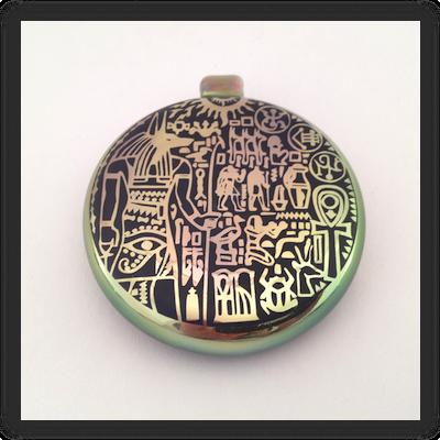 Heady Hunter Borosilicate Glass Art Gallery | Masataka Joei Sandblasted Egyptian Amulet