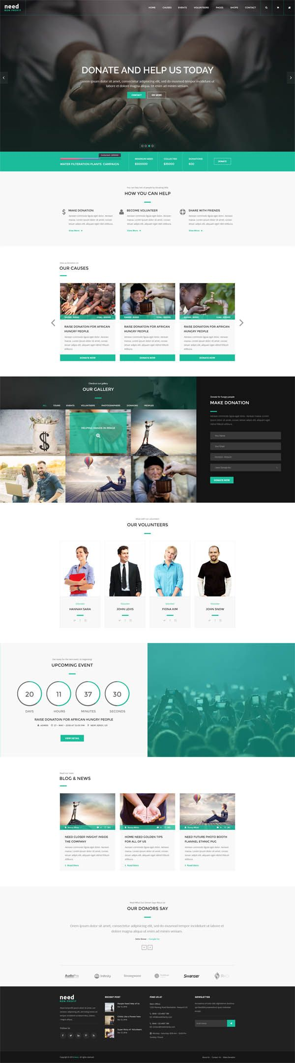 Need - Nonprofit Charity Donation HTML Template | PSD Templates ...