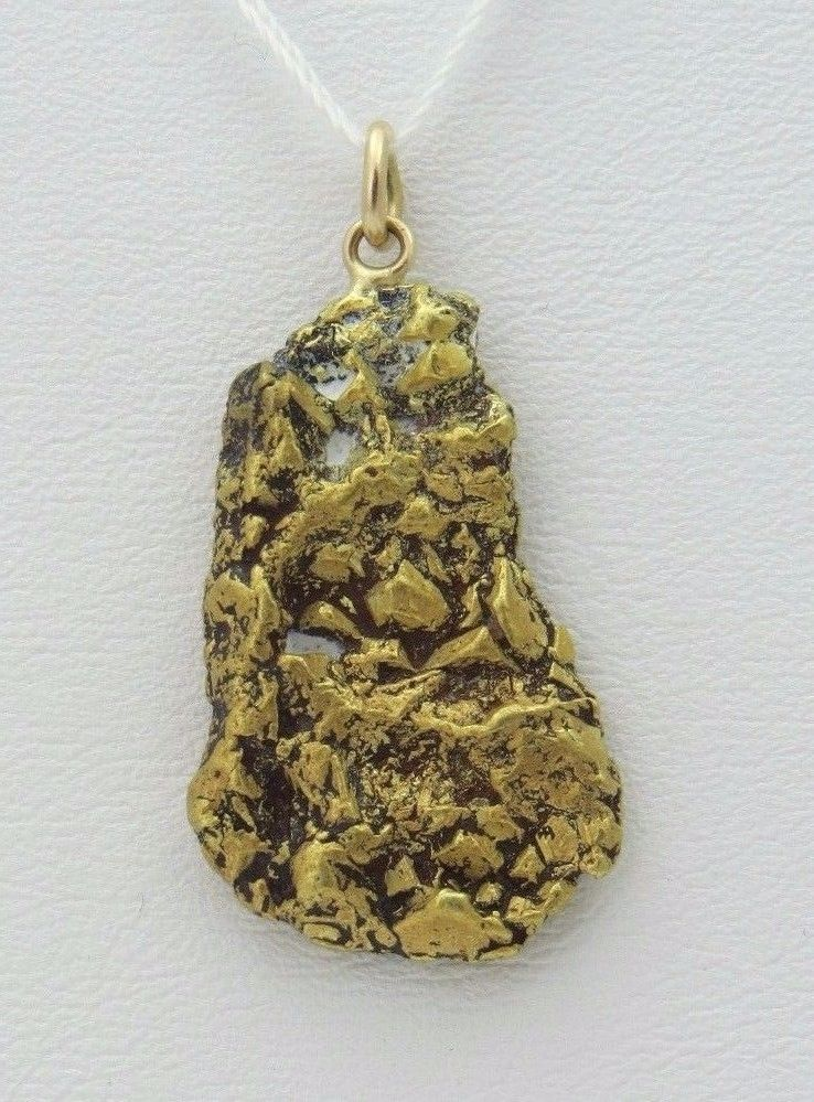 25 mm Cripple Creek Placer Gold Nugget Pendant eBay my jewels