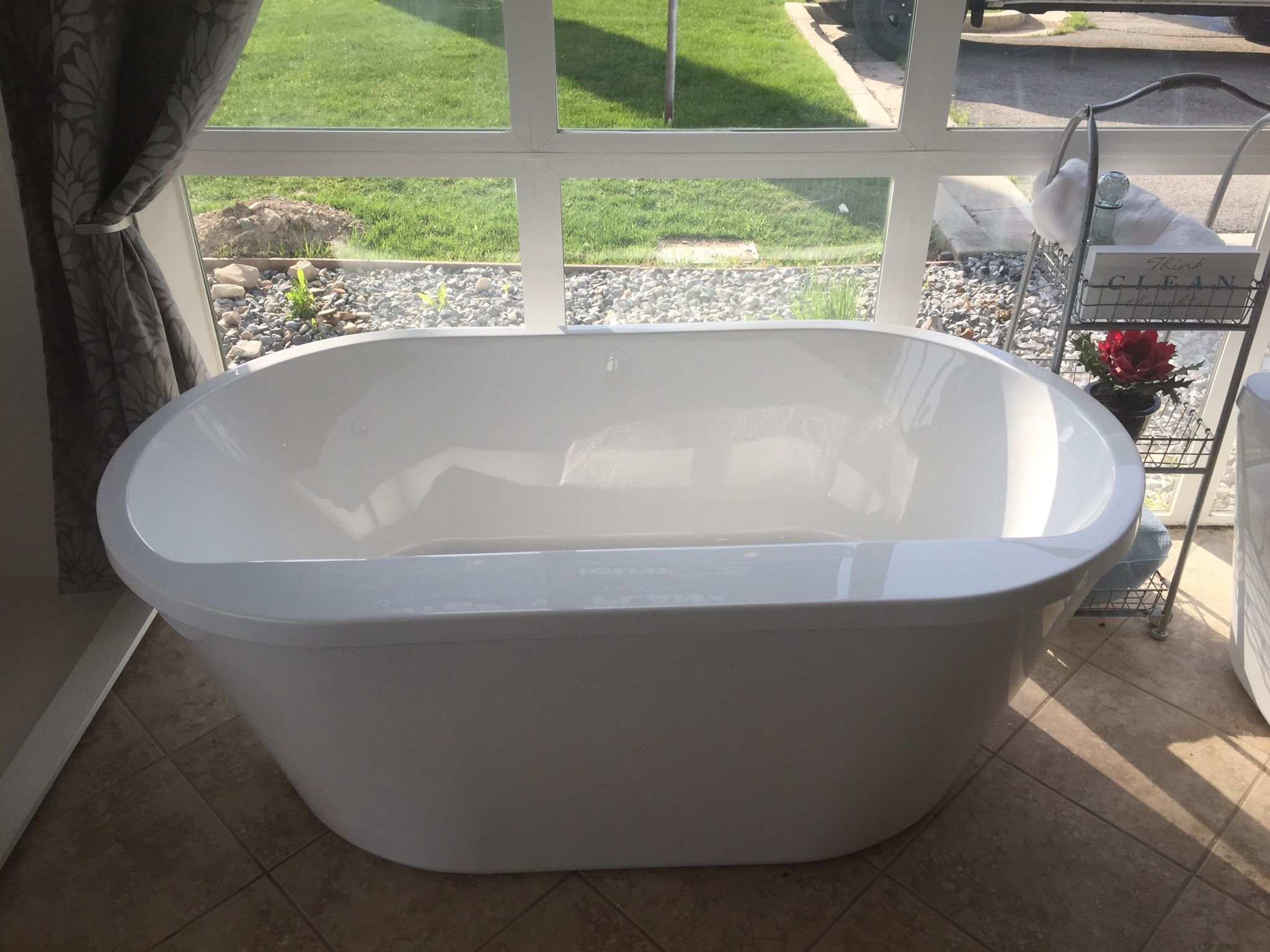"Our new 66"" two piece freestanding tub InteriorDesign DIY"