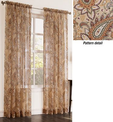 Paisley Sheer Curtain Panel From Collections Etc Paisley