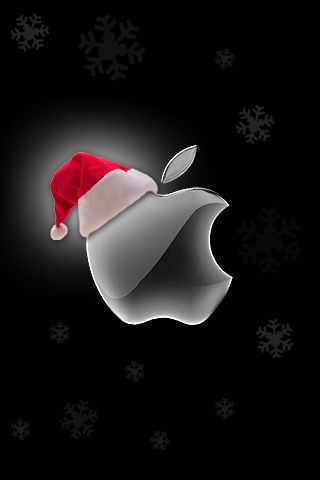 Christmas Apple Logo Iphone Wallpaper And Ipod Touch Background