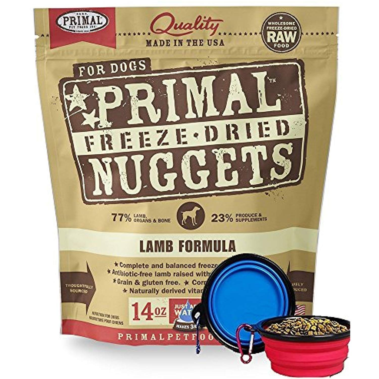 Primal Pet Food Freeze Dried Dog Food 14ounce Bag