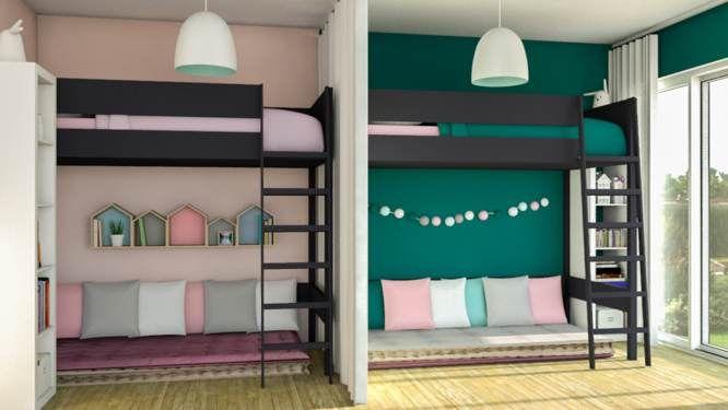 jessica d archi d co am nager une chambre pour 2 enfants. Black Bedroom Furniture Sets. Home Design Ideas