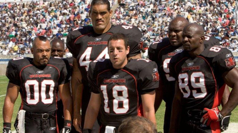 Football Movies That Score Every Time Adam Sandler Football Movies Terry Crews