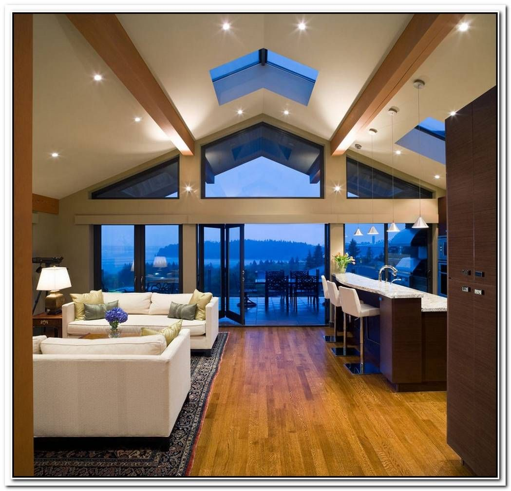 Beautiful Vaulted Ceiling Designs That Raise The Bar In Style En 2020 Plafonds Cathedrale Maison Moderne Plafonds Poutres Apparentes