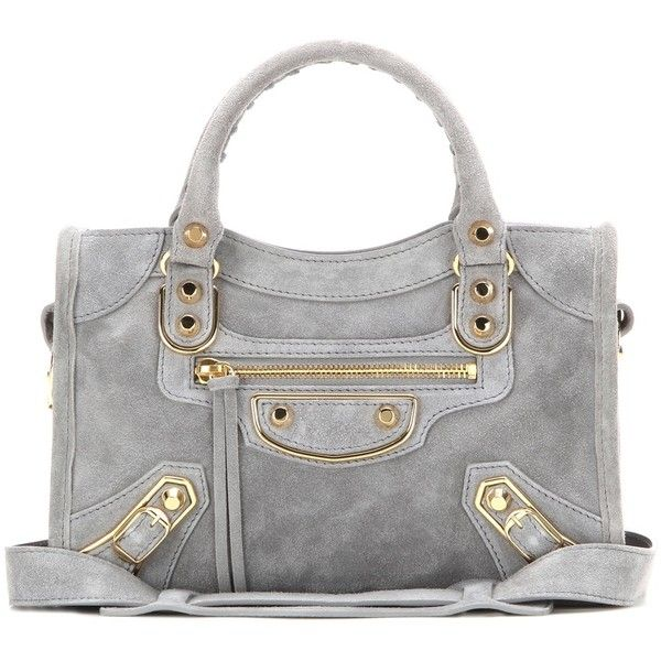 Balenciaga Classic Metallic Edge Mini City Suede Shoulder Bag ...