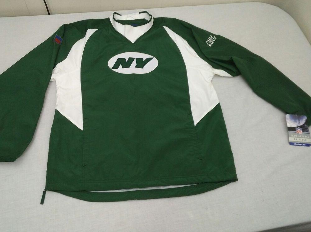 new concept 4c38b c9819 New York Jets NFL Team Apparel Hot Jacket Size M Reebok ...