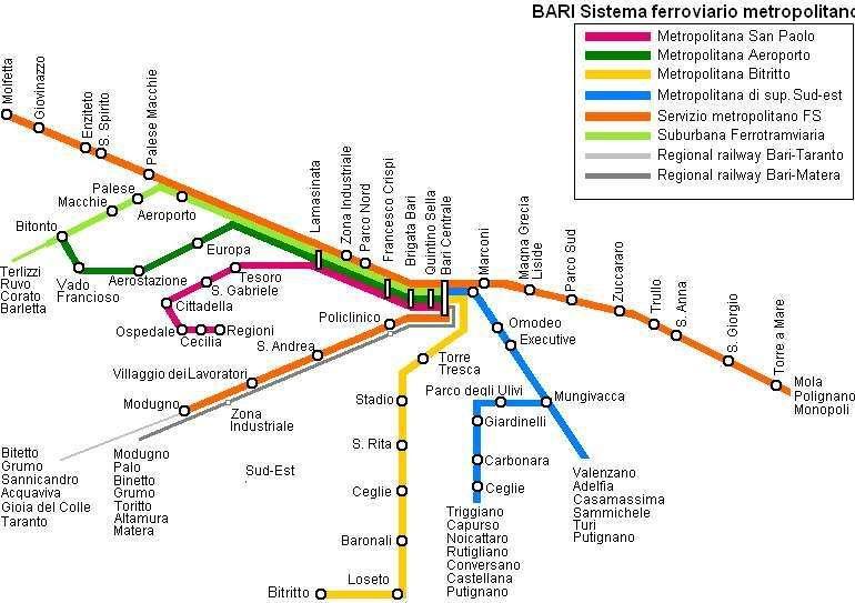 BARI | Ferrovie metropolitane e suburbane - SkyscraperCity ...