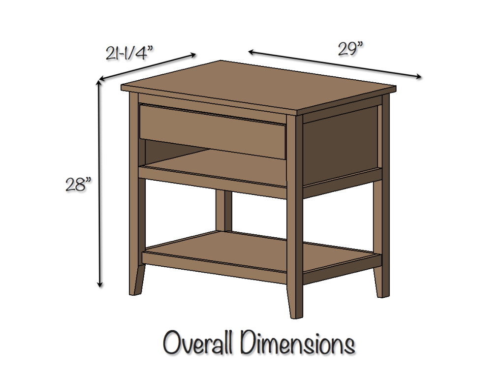 DIY Bedside Table Table plans, How to make bed