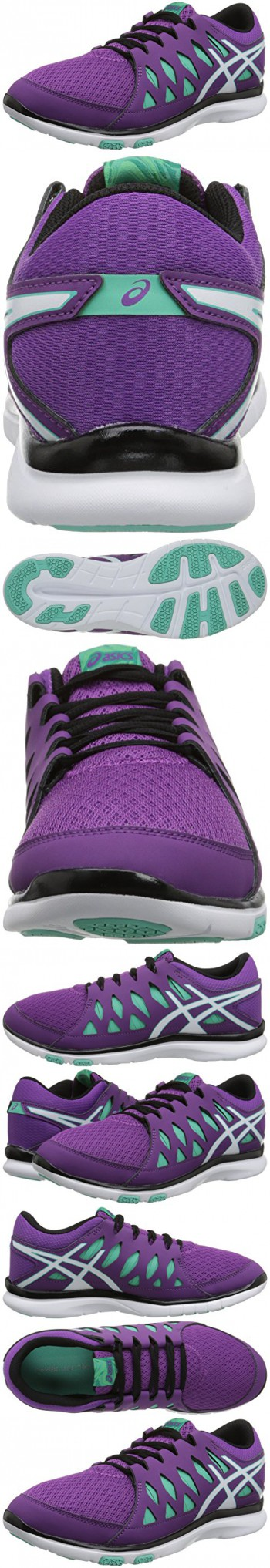 ASICS Women's Gel Fit Tempo 2 Fitness Shoe, Grape/White/Aqua Mint, 7 M US