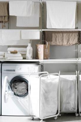 w sche sortieren und trocknen im hauswirtschaftsraum. Black Bedroom Furniture Sets. Home Design Ideas