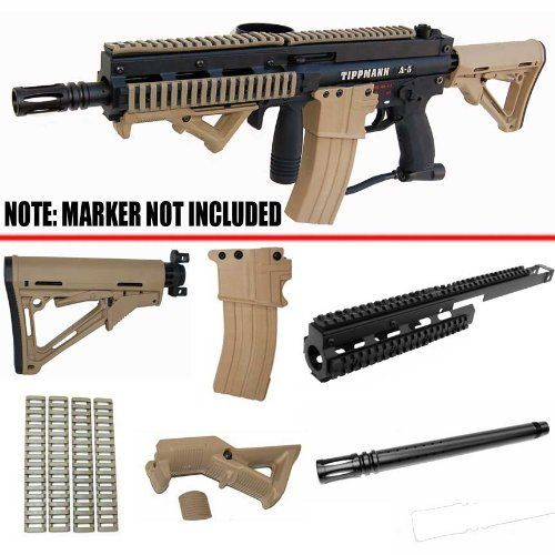 Tactical Kit For Tippmann A5 Marker 6pc Dark Earth Color By Trinity 14900 NEW Markers Fits Mechanical And