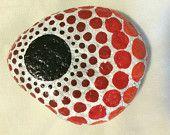Medium hand painted stone, mandala style