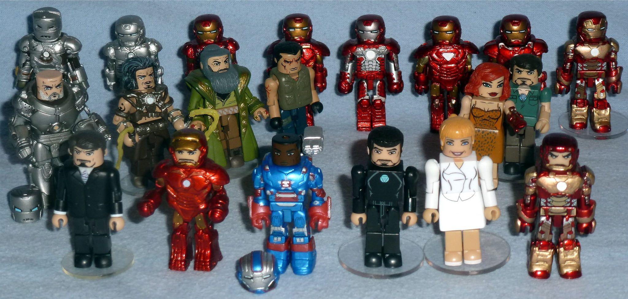 Marvel Minimates Series 35 Iron Man 2 Movie Hammer Drone /& Pepper Potts