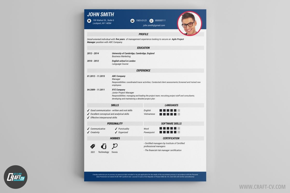 A Resume Template For A Software Engineer You Can Download It And