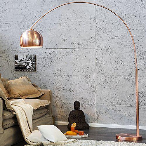 BIG BOW RETRO DESIGN LAMPE stehlampe bogenlampe Kupfer ohne Dimmer