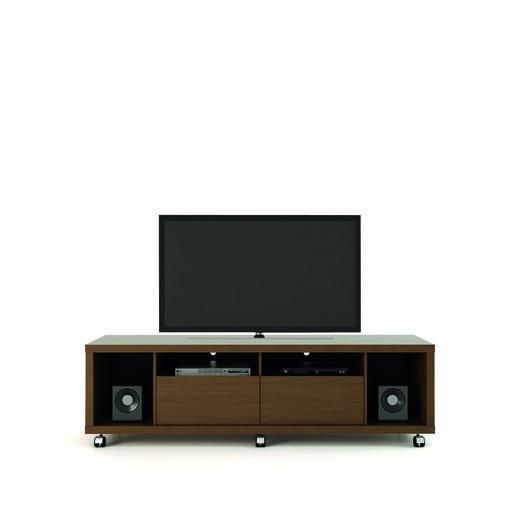 Manhattan Comfort 15472 Cabrini TV Stand 1.8 in Nut Brown
