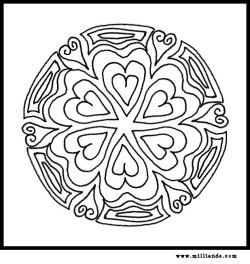 Free Printable Mandala Coloring Pages HeartsFree Mandala Coloring