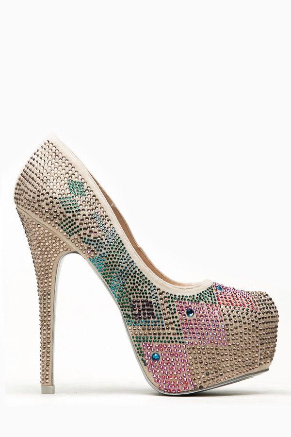 7647f6f79e Mascotte Geometric Bejeweled Nude Almond Toe Pumps @ Cicihot Heel Shoes  online store sales:Stiletto Heel Shoes,High Heel Pumps,Womens High H.