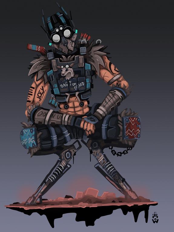 Roo D Dude Octane Skin Concept Apexlegends Animation Art Character Design Character Design Octane