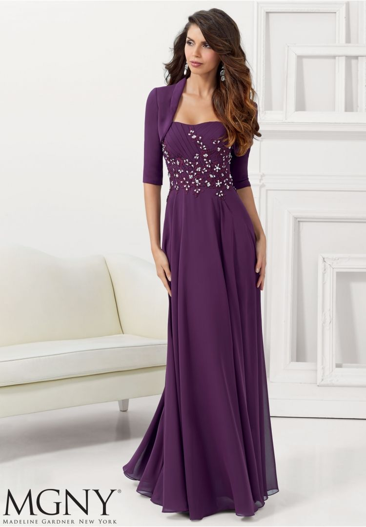 Evening Gowns and Mother of the Bride Dresses by MGNY Chiffon with ...
