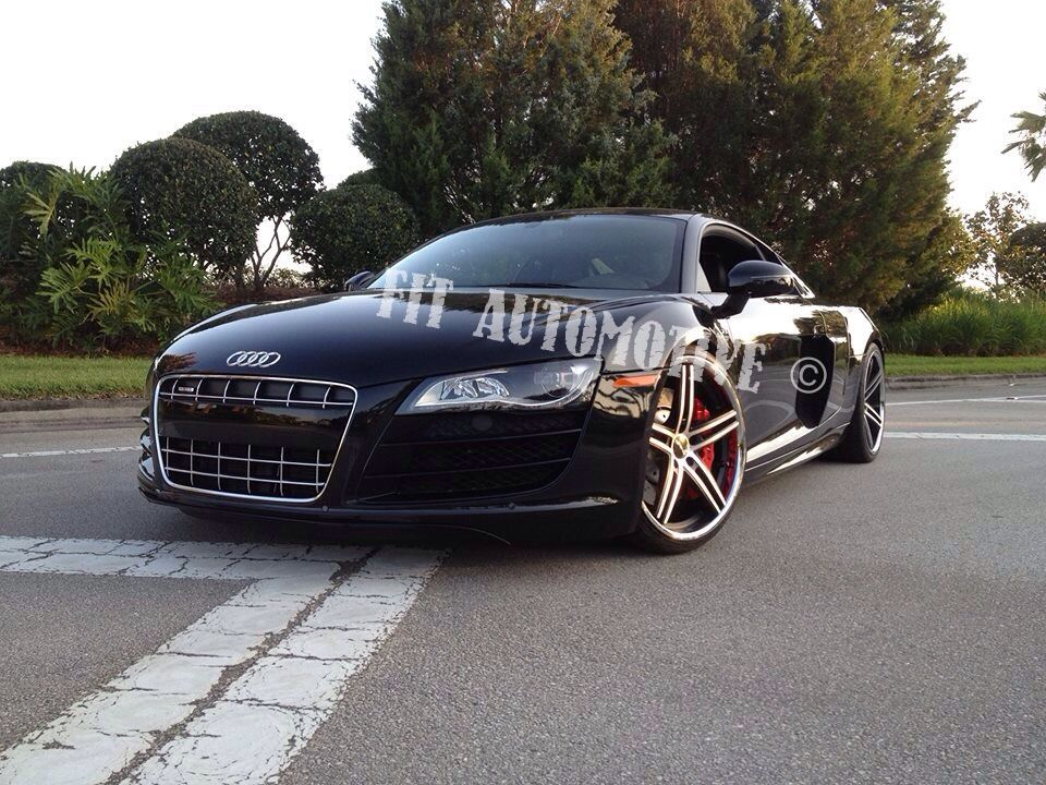 Audi R8 With Lorenzo Wheels And Red Painted Calipers All Done By Us Custom Trucks Car Wrap Bmw Car