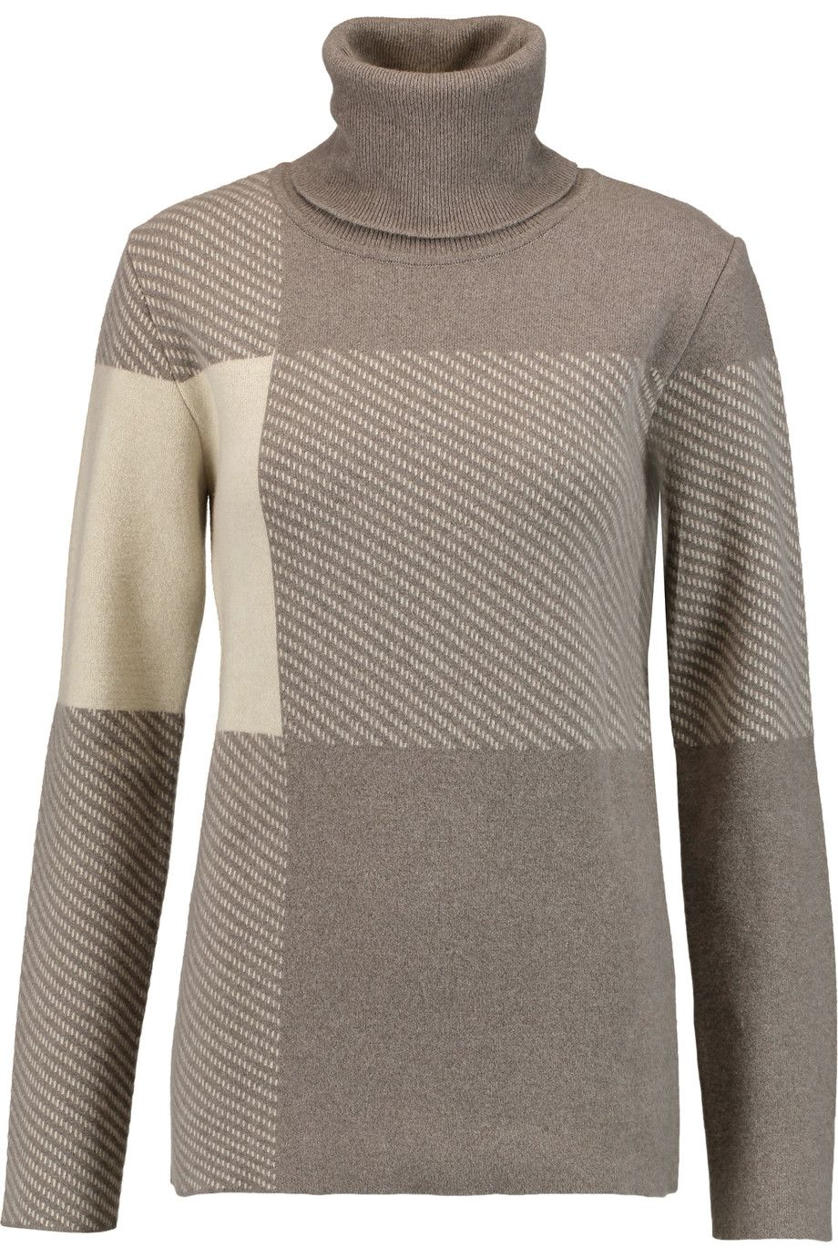 CHLOÉ Jacquard-knit wool-blend turtleneck sweater. #chloé #cloth #sweater