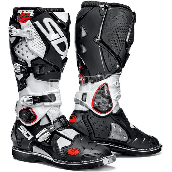 Sidi Crossfire2 Motocross Boots - Black White UK 13.5  Euro 49 ... d40fd13fbab