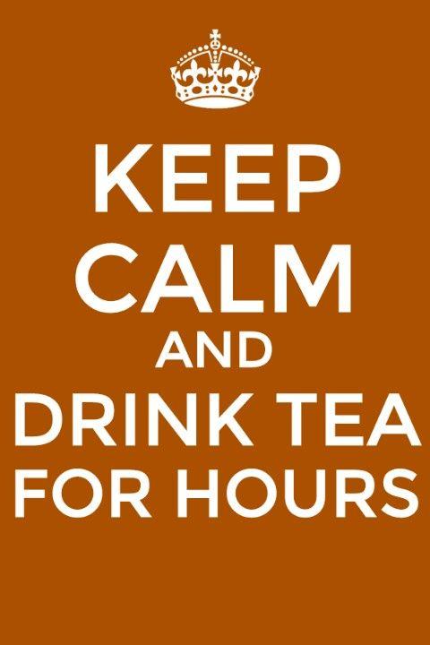 Hot tea & sweet tea!
