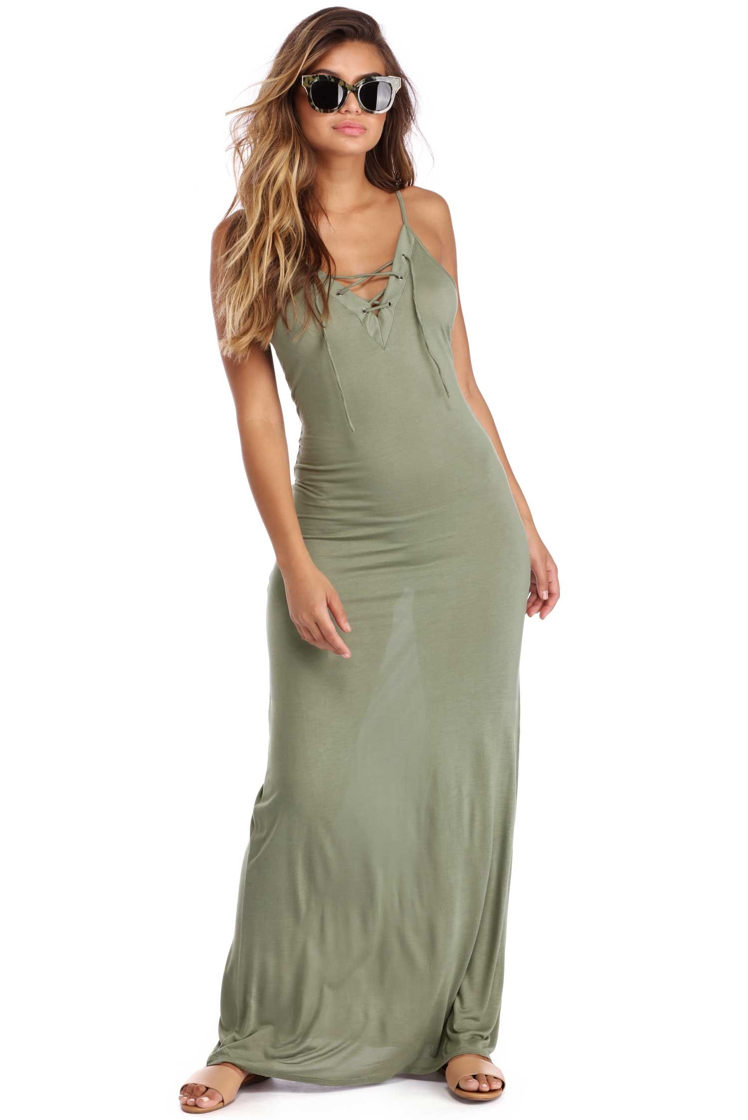 f4be9cb8c503 Olive Love For Lattice Maxi Dress | windsor | New Arrivals ...