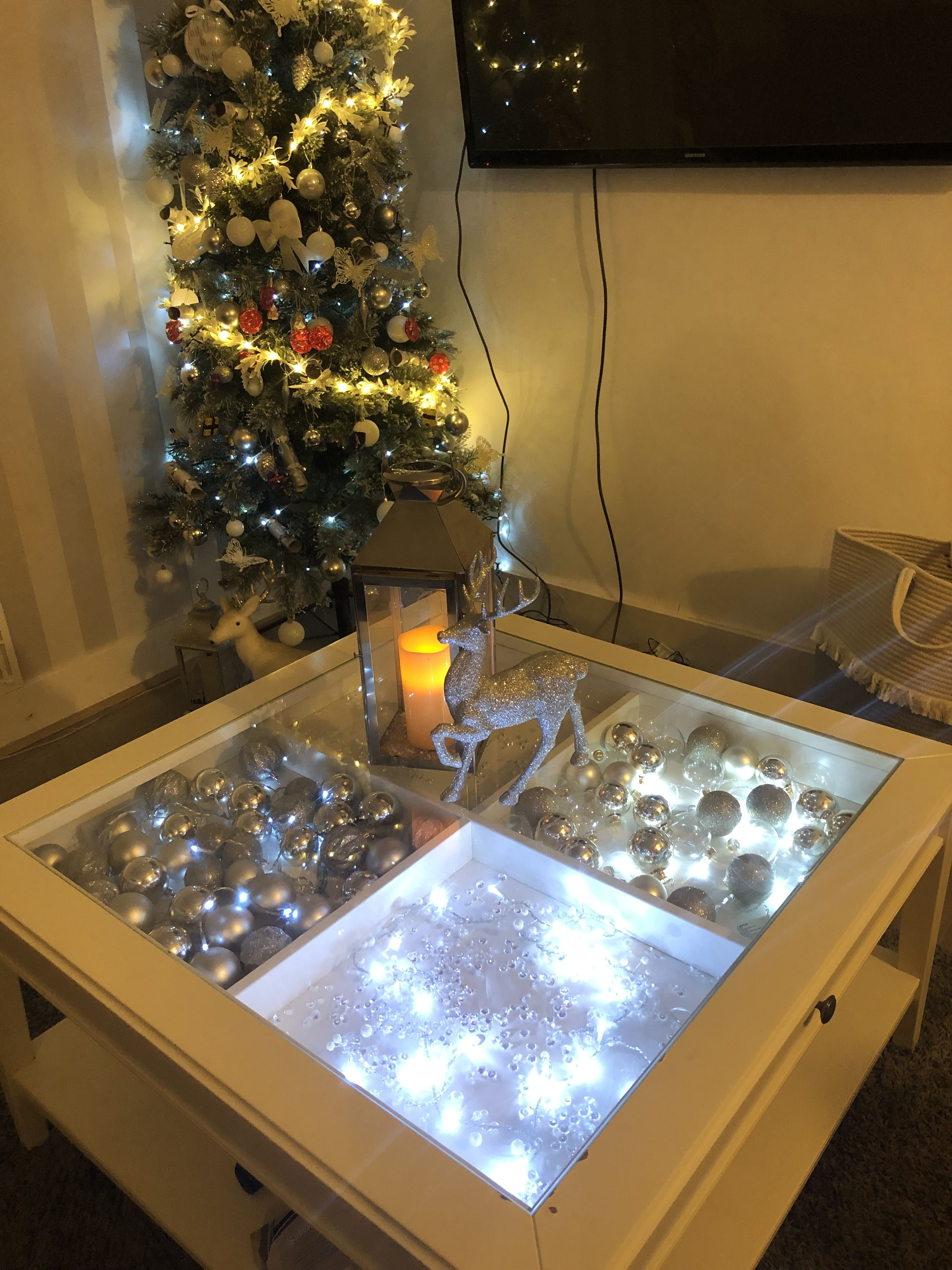 Ikea Liatorp Coffee Table Gl Top Christmas Decor In 2019