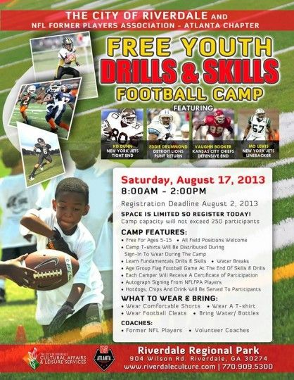 Youth Drills Skills Football Camp Football Camp Event Activities Football