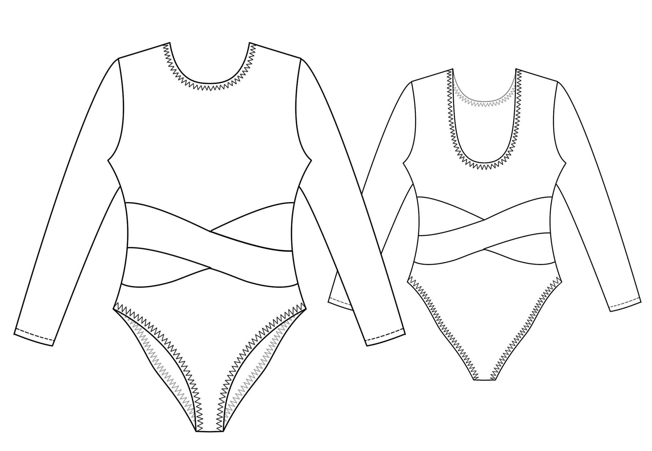 Leotard - Sewing Pattern #7164 Made-to-measure sewing pattern from ...