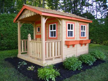 the childrens garden a painted wendy house in the sunflower garden playhouse - Garden Sheds For Kids