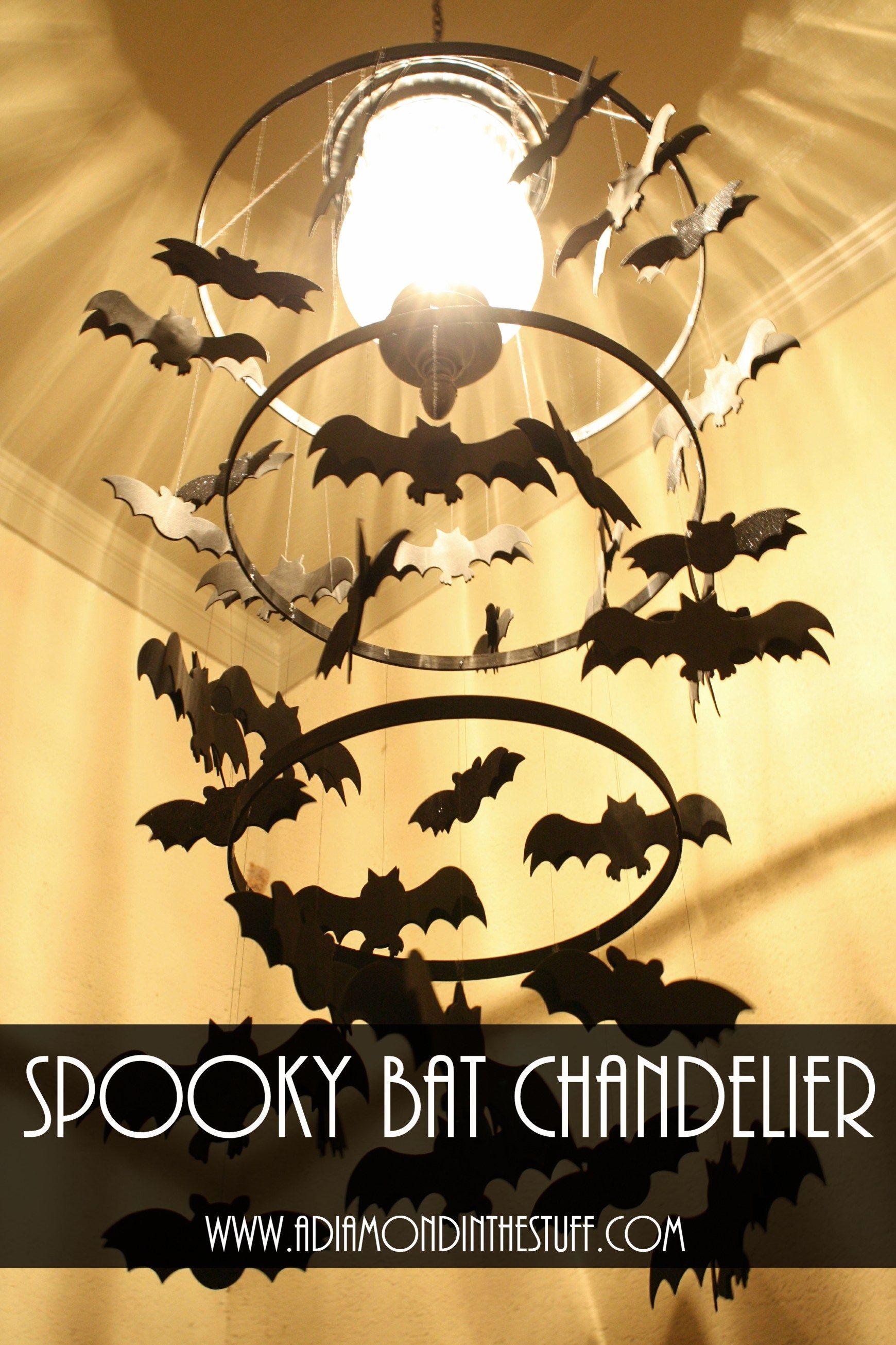 Spooky Bat Chandelier | A Diamond in the Stuff
