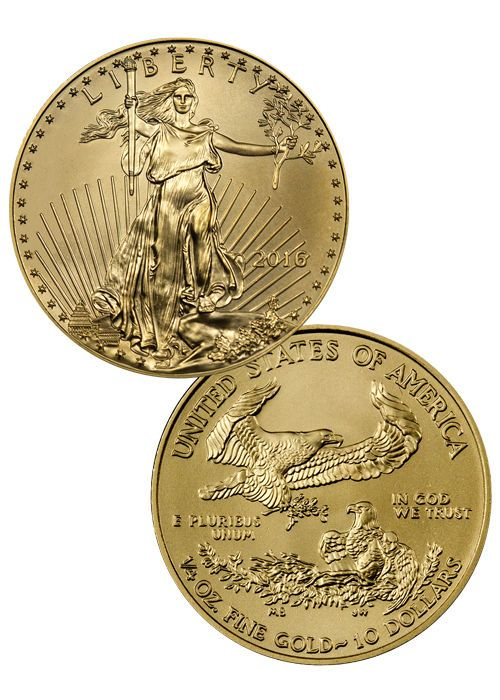 2016 10 1 4 Troy Oz American Gold Eagle Coin Sku38294 Gold Eagle Coins Gold American Eagle Eagle Coin