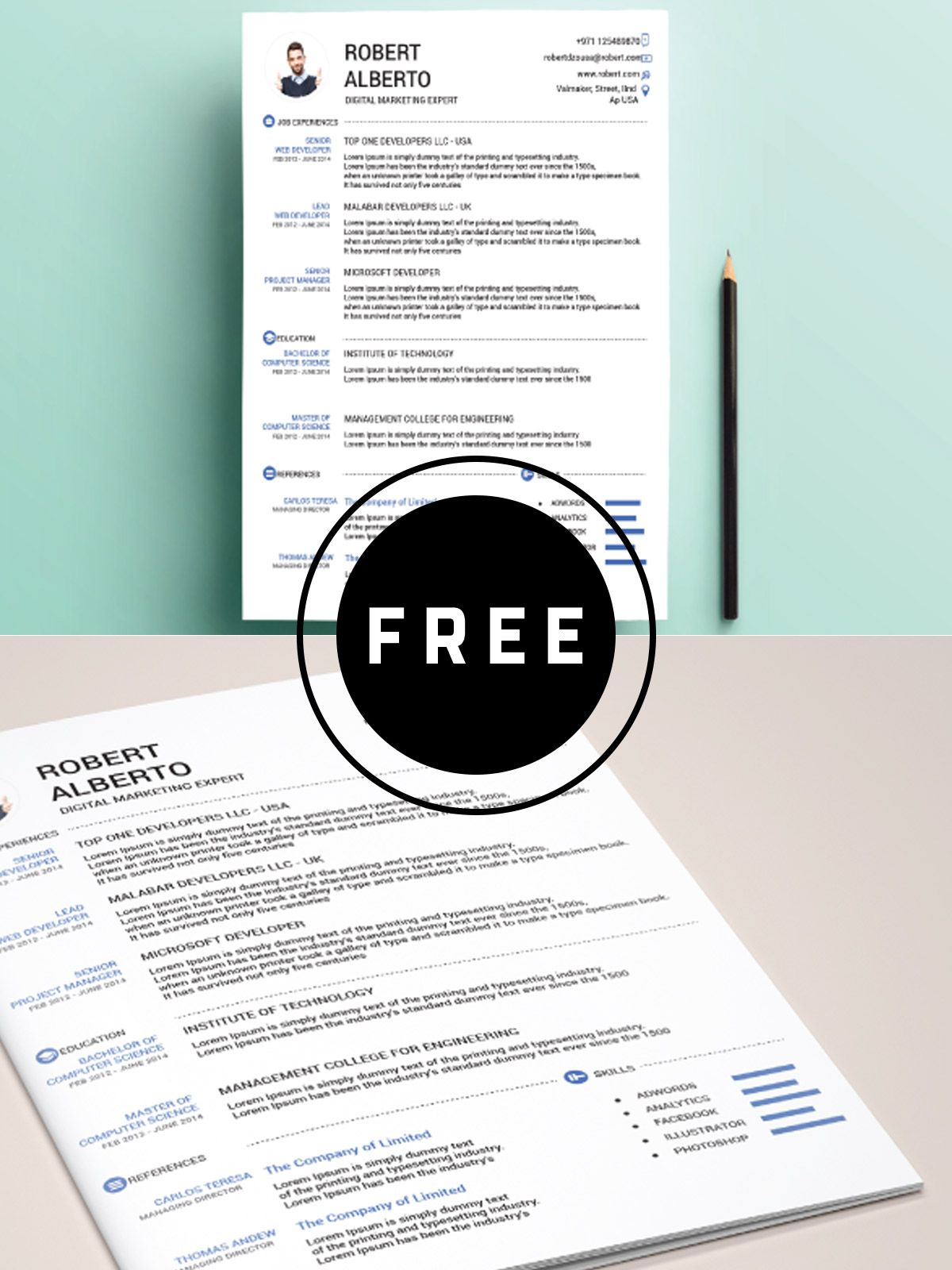 98 Awesome Free Resume Templates For 2019 Free Resume Template Word Resume Template Free Resume Design Template