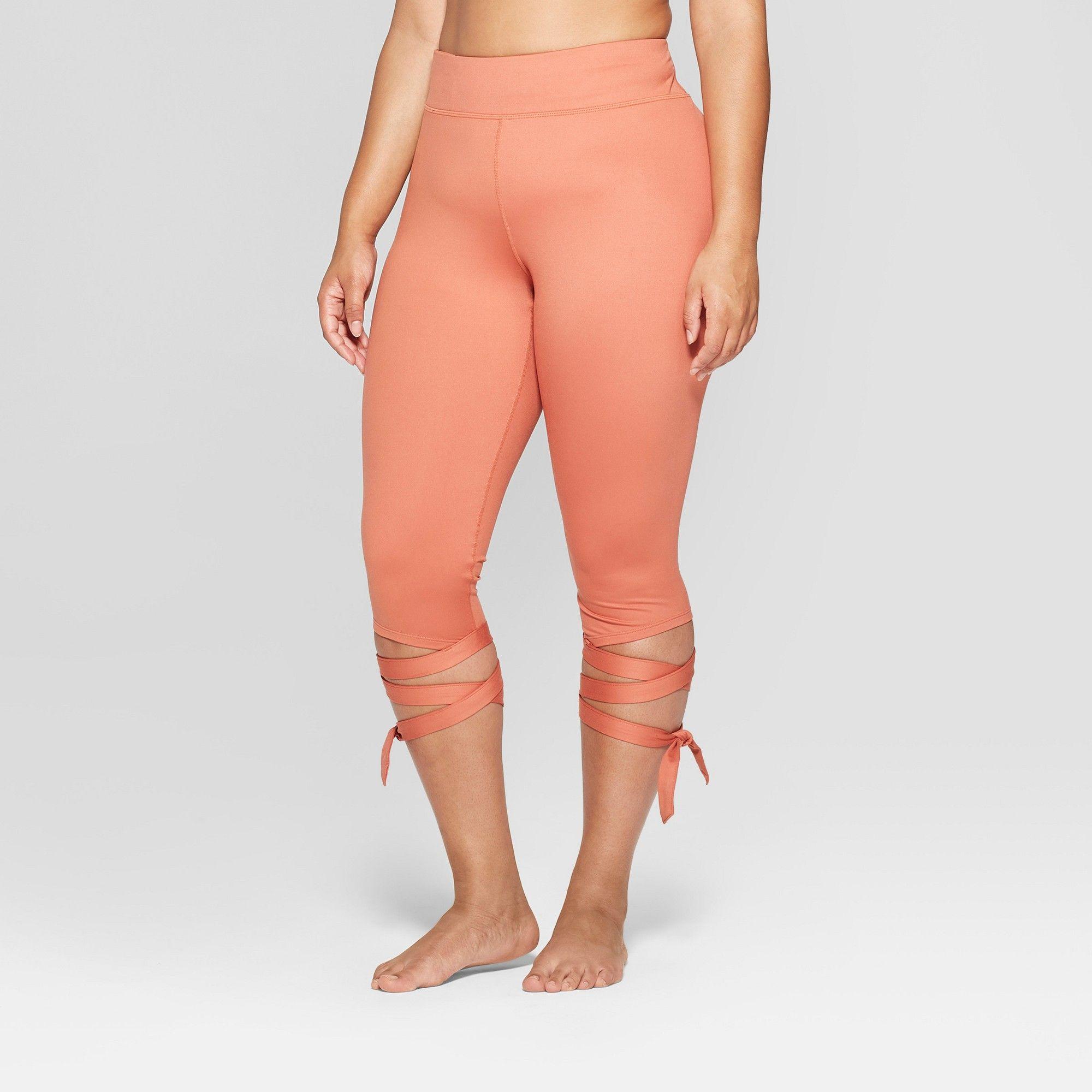 Women's Plus Size Side Tie MidRise Capri Leggings
