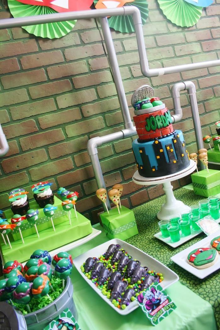 Teenage Mutant Ninja Turtles Party Planning Ideas Supplies Idea Cake Ninja Turtles Birthday Party Mutant Ninja Turtles Party Ninja Turtle Party