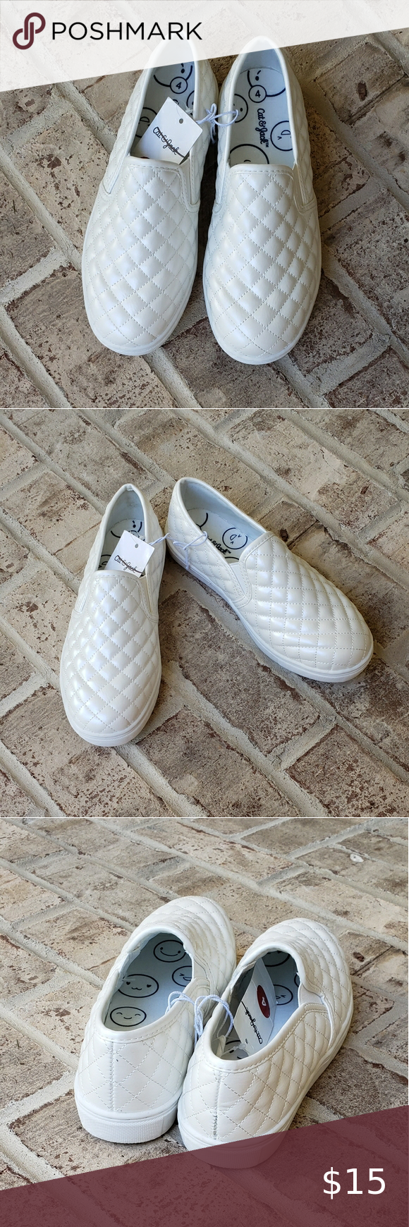 Girls Quilted Sneakers in 2020 | White