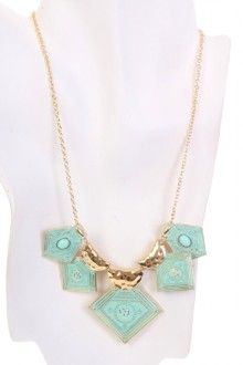 Mint Gold Pendent Necklace