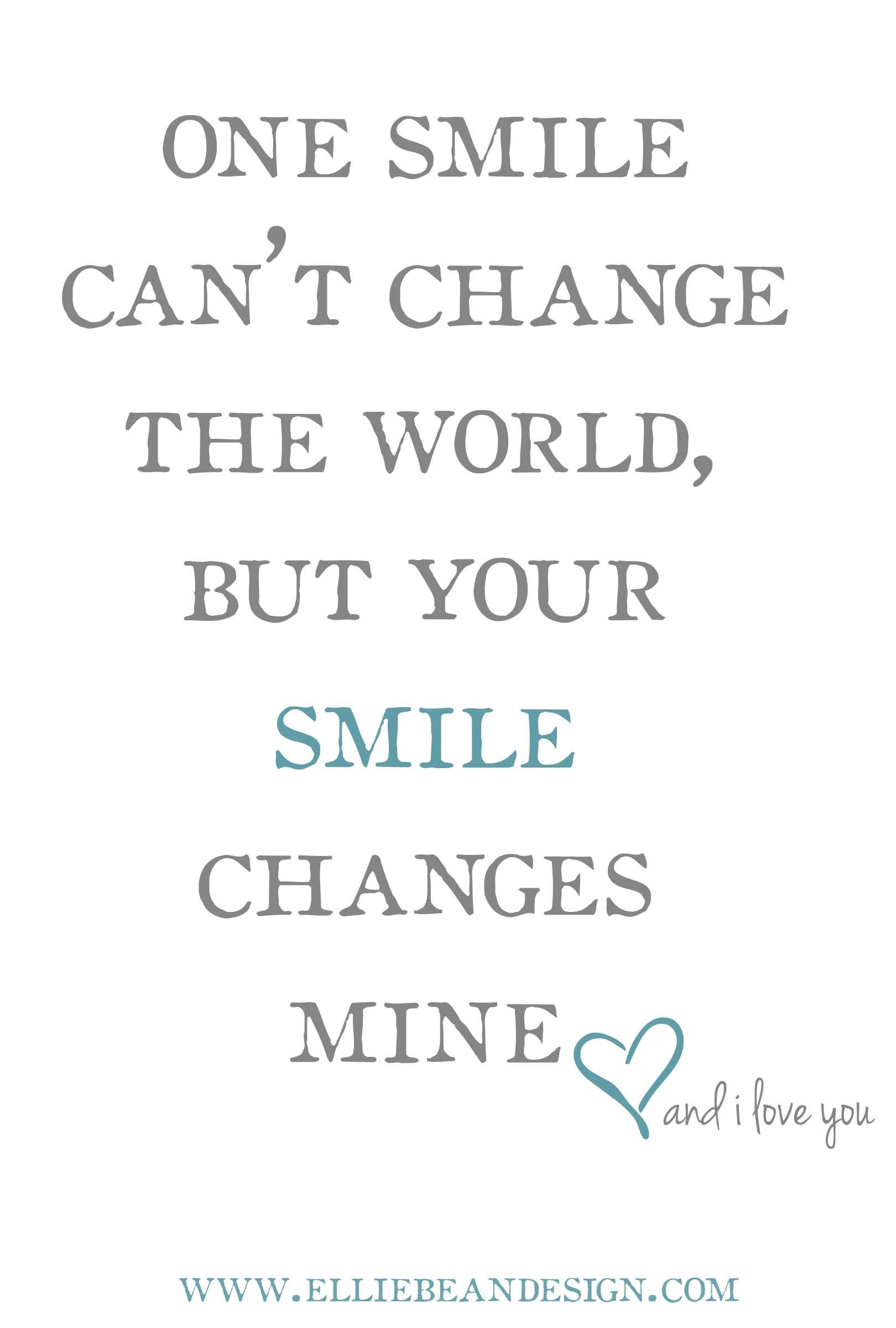 Quote For Smiling